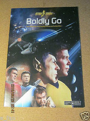 Canada Post Details Pamphlet - Star Trek - Boldly Go - Stamps - 50th Anniversary
