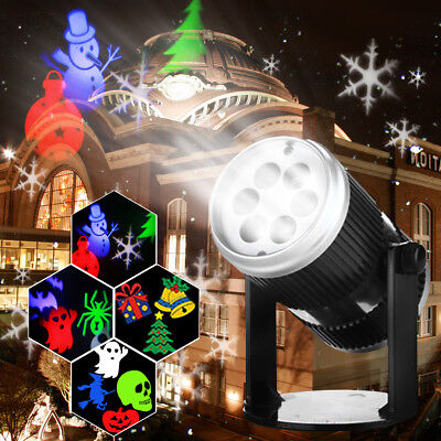 Halloween Sparkling LED Night Light Laser Projector Christmas Party Lamp AU