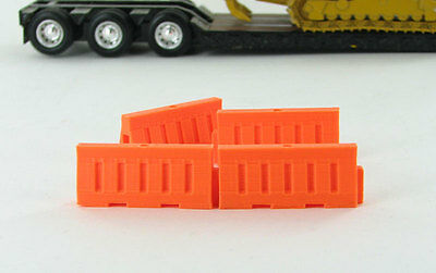Safety Barriers (water filled style) Plastic   1:50 Scale  3D to Scale 50-102-OR