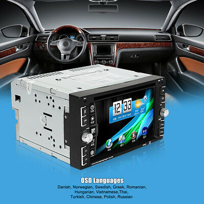 6.2'' Double 2Din Touch Screen Car DVD Monitors Player Radio Bluetooth FM/USB/SD