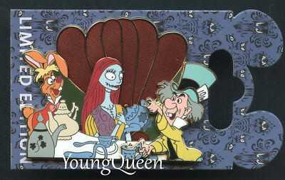 RARE WDI Disney Mad Hatter March Hare Sally as Alice Tea Party Le 300 Pin