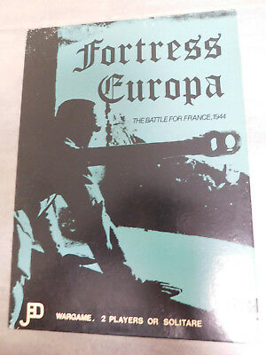 FORTRESS EUROPA The Battle for France 1944 mostly unpunched JEDKO GAMES 1977