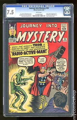 Thor (1962-1996 1st Series Journey Into Mystery) #93 CGC 7.5 1132855006