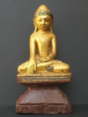 Antique Bouddha Shan en Bois de BIRMANIE