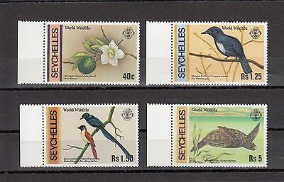 Timbre Stamp  4 Iles Seychelles Y&t#401-04 Faune Flore Neuf**/mnh-Mint 1978~A61