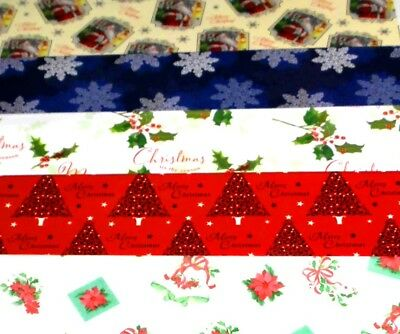 CHRISTMAS WRAPPING PAPER X 120 SHEETS, JUST 9p, 5 designs x 24 FULL SIZE( cw6