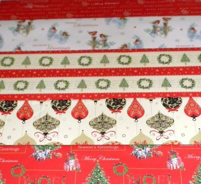 CHRISTMAS WRAPPING PAPER X 120 SHEETS, JUST 12p, 5 designs x 24 FULL SIZE( cw5