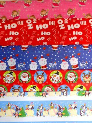 CHRISTMAS WRAPPING PAPER X 120 SHEETS, JUST 9p, 5 designs x 24 FULL SIZE( cw1
