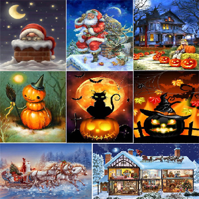 Xmas DIY 5D Diamond Embroidery Painting Cross Stitch Home Decor Crafts Gifts