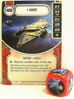 Star Wars Destiny - #028 Ghost + Dice - red - Empire at War