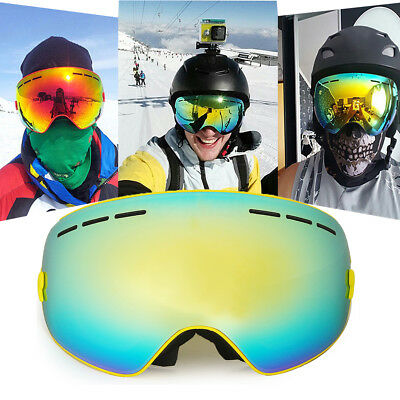 COPOZZ Ski Goggles Snowboard Spherical Professional Glasses Double Lens Anti-fog