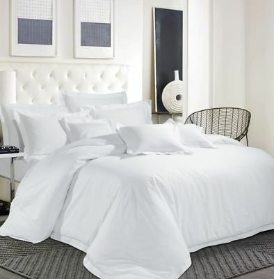Egyptian Cotton 600 ''TC Hotel White Bedding Set Duvet Cover Solid