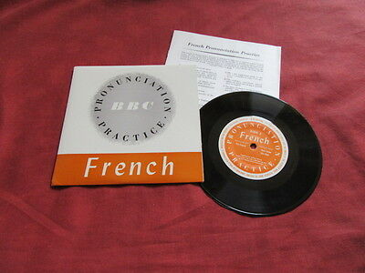 "FRENCH PRONUNCIATION 7"" EP +BOOKLET BBC Language"