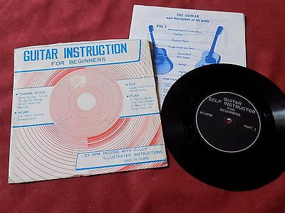 "Guitar Self Instruction 7"" Flexi +Insert Spoken Word"