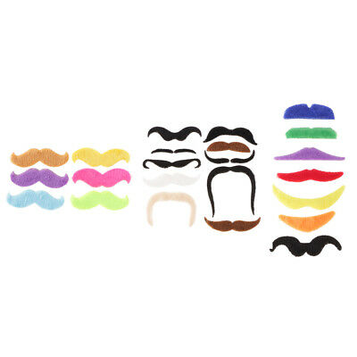 Pack of 7/10/6 Mexican 70's Stick on Fake Mustache Self Adhesive Party Jokes