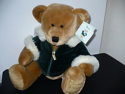 "Beautiful Harrods Cuddly Bear 2001 Collectable 14"" Bnwt"