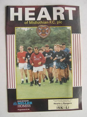 Hearts v Rangers 1991/92 Skol Cup