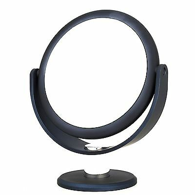 Danielle Creations Metallic Soft Touch Vanity Mirror x10 magnifying - Navy