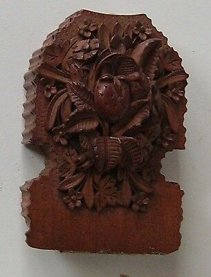 Carved Wood Watch Stand  Box  Victorian Pocket Watch Holder Black Forest