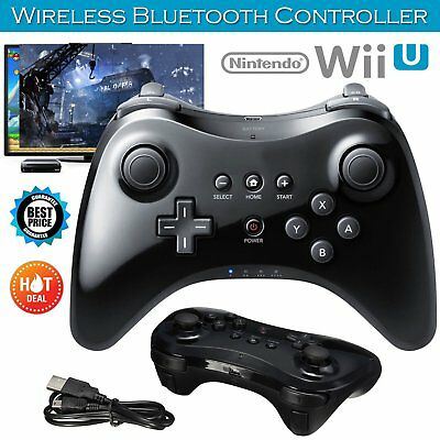 Wireless Gamepad Hand Joypad Cable & Remote Controller For Nintendo Wii U Pro PE