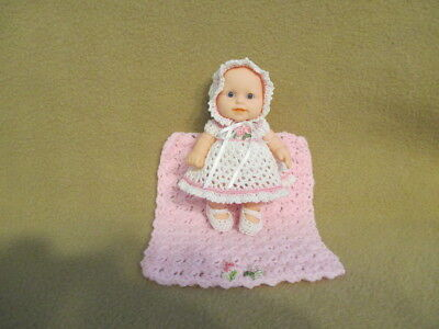 "Berenguer 5"" Look Alike Silicone Baby Doll+ Ooak Clothes + Miniature Blanket Set"