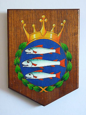 Ancient Arms of Kingston upon Thames Wooden Heraldry Shield