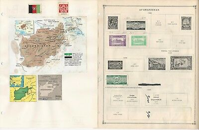Afghanistan Album Pages 1910-89, Scott International  & Minkus Pages, 50+ pgs