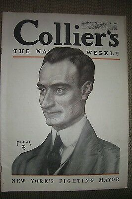 Collier's Aug. 25, 1917 featuring Joseph Clement Coll illustrations, war stories