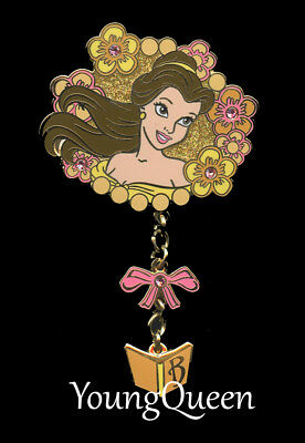 DLRP Disney Beauty & Beast Royal Princess Belle Dangle Jeweled Pin