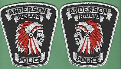 Anderson Indiana Police 2 Patch Mirrored Set