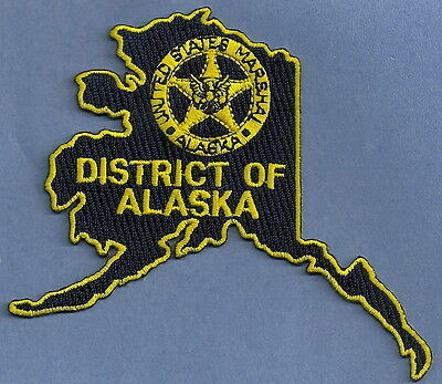 United States Marshal Alaska Police Patch State Shaped!