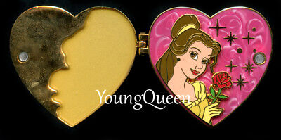 WDW Disney Beauty & the Beast Princess Belle Rose Heart Hinged Locket Le Pin