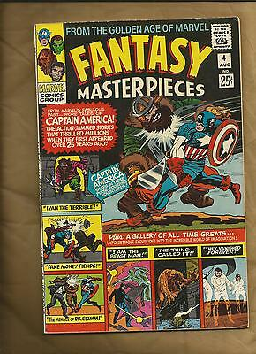 Fantasy Masterpieces  4 1966 Golden Age Captain America Marvel Comics