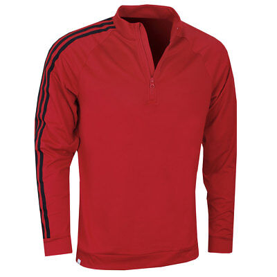 Adidas Golf Mens 3-Stripes 1/4 Zip Layering Stretch Pullover
