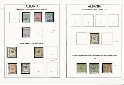 Albania Collection 1917 to 1965 on 30 Album Pages, Neatly Mounted
