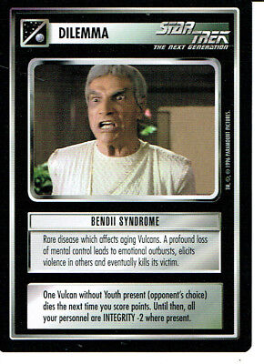 Star Trek Ccg Q Continuum Rare Card Bendii Syndrome
