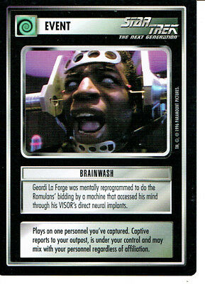 Star Trek Ccg Q Continuum Rare Card Brainwash