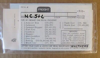 NEW WALTHERS O SCALE DECAL -  NC&StL FREIGHT CAR 'THE DIXIE LINE' #936-70100