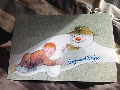 Raymond Briggs Signed Photo 12 X 8 The Snowman Picture Walking In The Air Coa