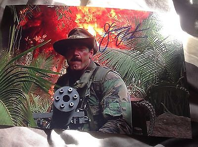 Predator Hand Signed Jesse The Body Ventura 12 X 8 Photo Wwf Blaine Legend Coa