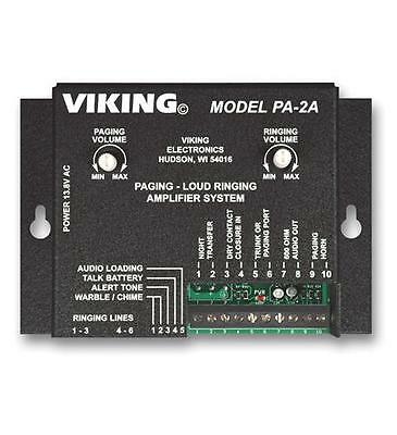 Viking PA-2A Paging Loud Ringing Amplifier System VK-PA-2A