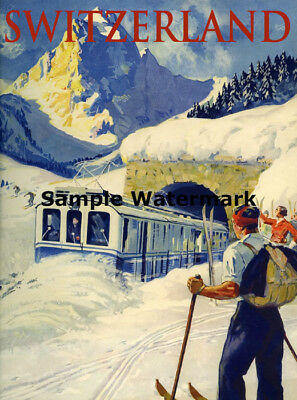 VERMONT Vacation Ski Winter Sport Mountain Trail Vintage Poster Repo FREE S//H