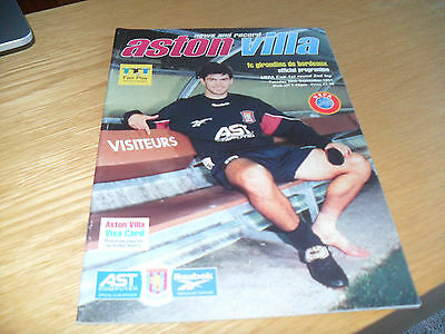 Aston Villa v Bordeaux 30th September 1997