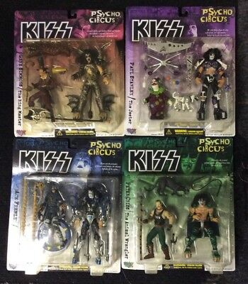 1998 McFARLANE TOYS KISS PSYCHO CIRCUS FIGURE COMPLETE (4) FIGURE SET MIP