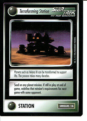 Star Trek Ccg Q Continuum Rare Card Terraforming Station