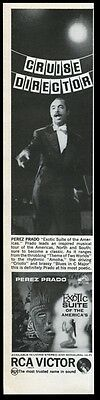 1962 Perez Prado photo RCA Victor Records vintage print ad
