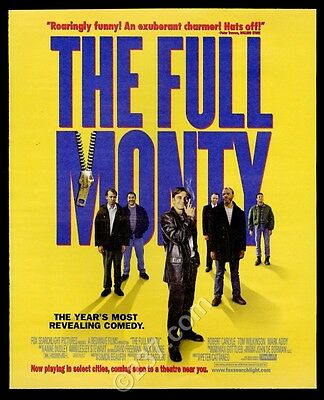 1997 The Full Monty movie release vintage print ad