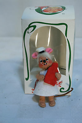 VINTAGE Christmas ANNALEE Stuffed Mobilitee DOLLS Ornament MOUSE 1996