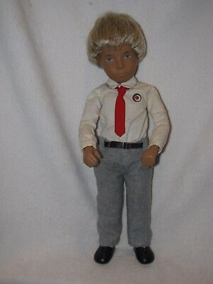 """16"""" Blonde Haired Sasha/Gregory Boy Doll With England Tag"""