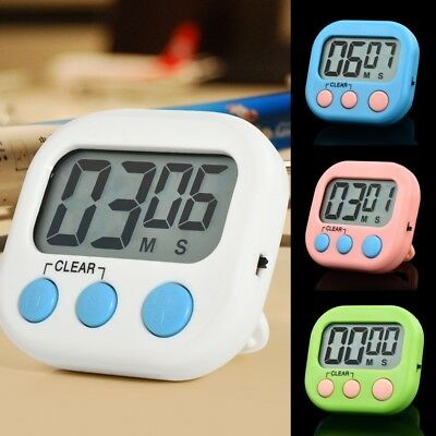 4 Colors Square Large LCD Digital Kitchen Timer Cooking Timer Alarm with Magnet